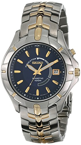Seiko Men's SKA402 Kinetic Two-Tone Watch