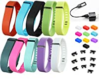 BeauteCa Pack of 20 Premium Fitbit Flex Wristbands Accessory with Clasp 10 Fitbit bands Replacement NO Tacker And 10 Silicone Fasteners Secure Your Fitbit Wristband Set