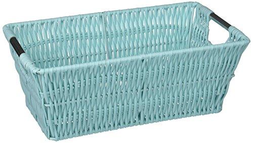 Whitmor Rattique Small Shelf Tote Seafoam ()