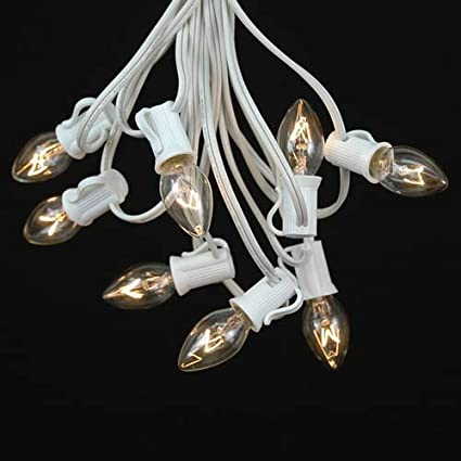novelty lights c7 clear christmas lights set indooroutdoor christmas light string christmas