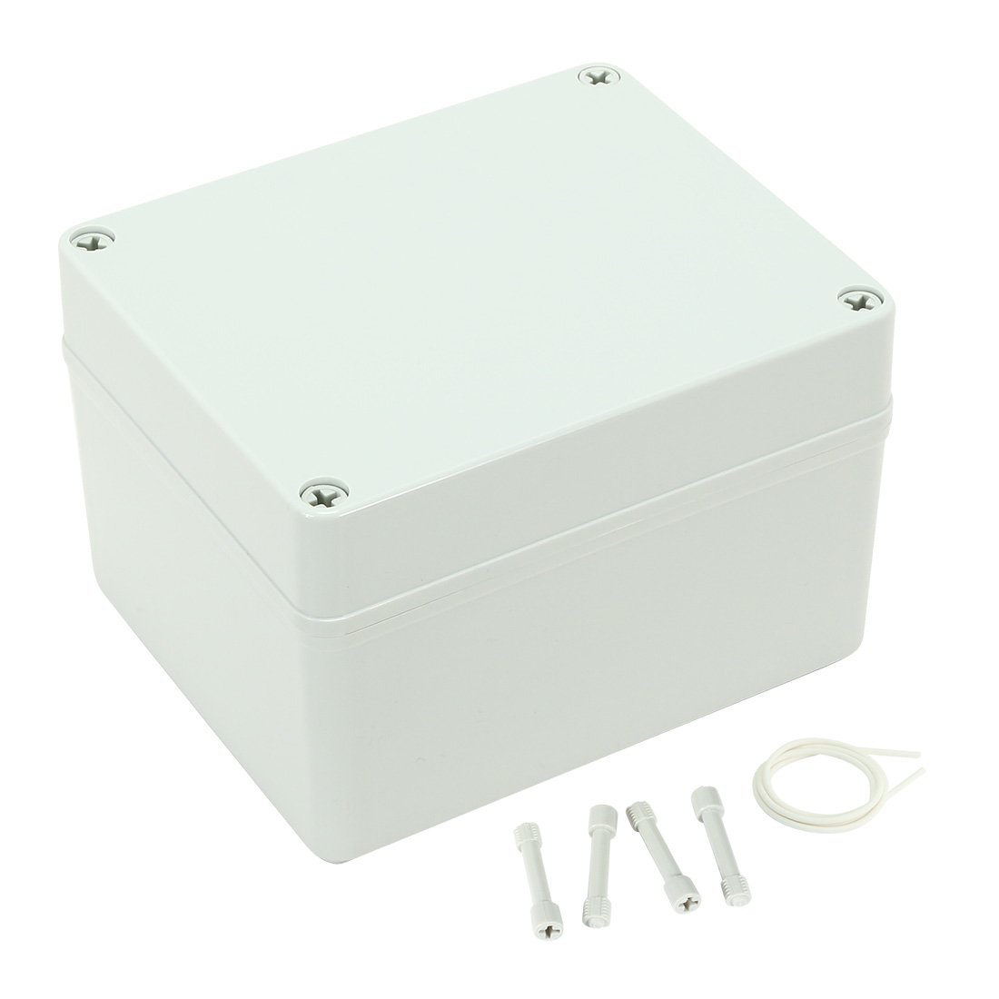 uxcell 6.7''x5.5''x4.3'' (170mmx140mmx110mm) Outdoor Plastic ABS Waterproof Junction Box Universal DIY Electrical Project Enclosure Cover