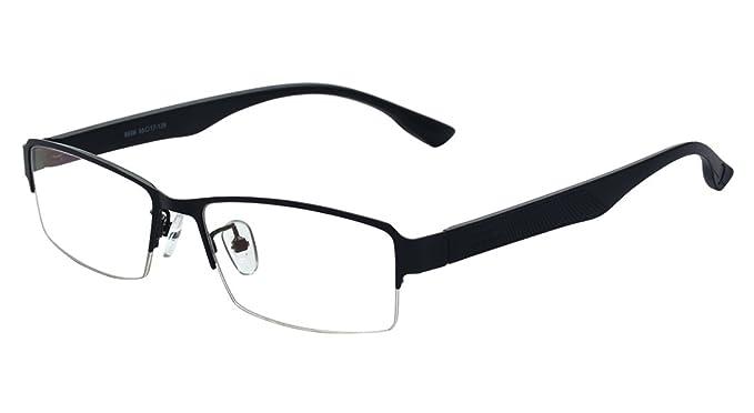 e777c71266 ALWAYSUV Half Frame Clear Lens Business Glasses Prescription Optical  Glasses Frame Black