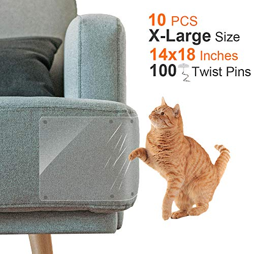 Scratch Guard Self Adhesive - Outkitkit 10 Pack Furniture Protectors from Cats, Furniture Scratch Guards, 14