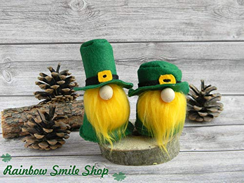- Irish leprechaun gnome St Patrick's Day decor Irish Gnome Elf Scandinavian Gnomes St patricks day decorations Home gnome Green Felt Gnomes