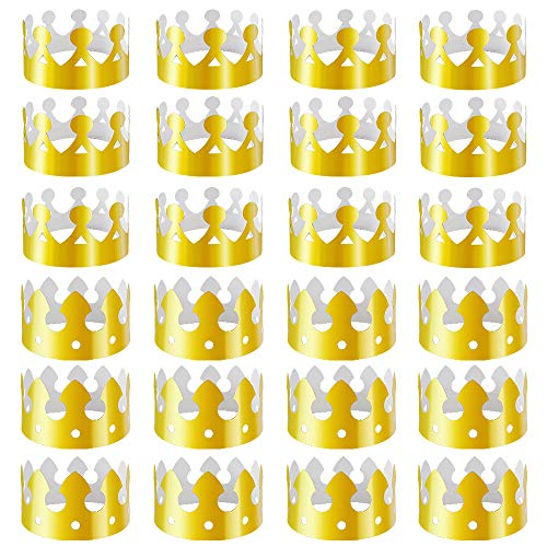 Crowns Gold Foil - 28 Pack Gold Paper Crown Gold