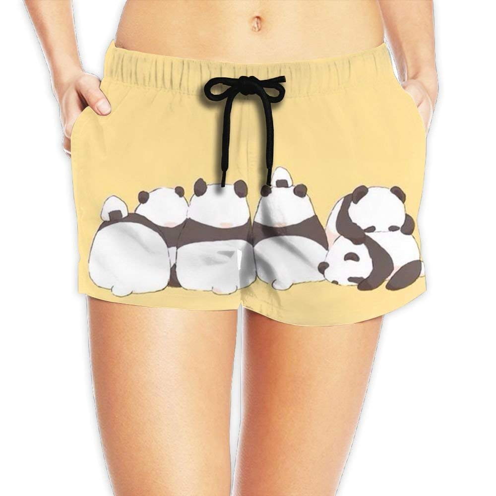 Hlcenng Boxer Dog Womens Lightweight Beach Shorts Quick Dry Swim Trunks with Pockets