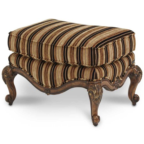 Bergere Chair Ottoman - Aico Lavelle Melange Bergere Chair Ottoman Group 2 Opt 1 - 54875-BRGLD-34