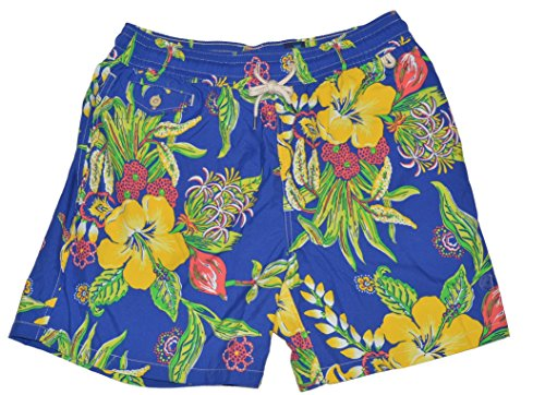 Polo Ralph Lauren Mens Floral Print Swim Shorts (Floral, X-Large)