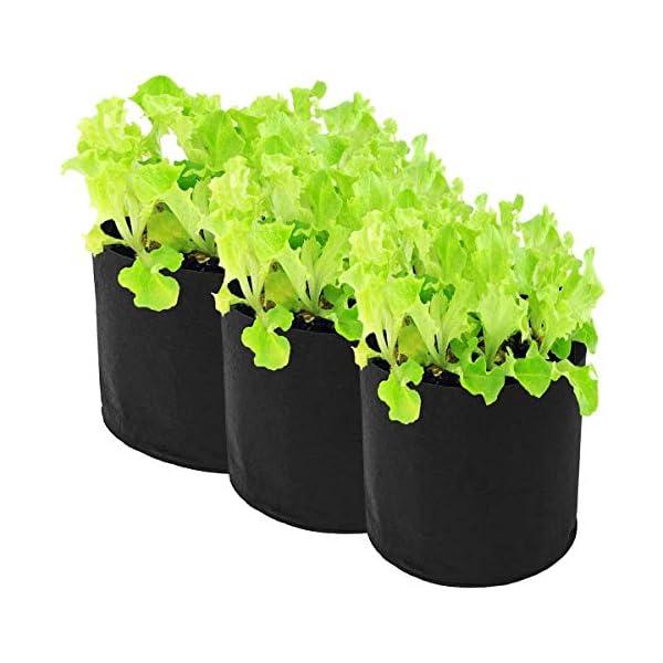 Ouqian Sacchi per Piante Orto Herb Fiore Che piantano Borsa di Controllo Root Grow Letto rialzato per Il Giardinaggio… 5 spesavip
