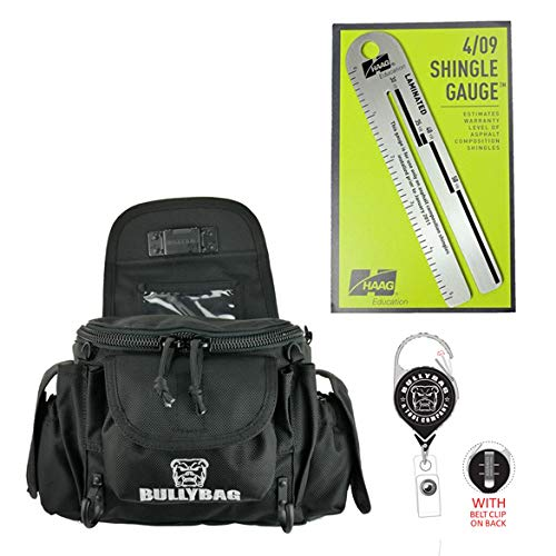 BullyBag Ultra Pouch 4-Pack: Combo includes a BullyBag Ultra Pouch w Paddle clip, Haag 4/09 Shingle Gauge, BullyBag Badge & BullyBag Gear Retainers by BULLYBAG (Image #10)