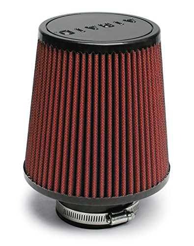 Airaid 700-493 Universal Clamp-On Air Filter: Round Tapered; 3 in (76 mm) Flange ID; 6 in (152 mm) Height; 6 in (152 mm) Base; 4.625 in (117 mm) Top