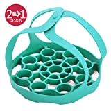 Keetö Pressure Cooker Sling And Egg Rack - Premium Silicone Sling - Perfect Accessory for Instant Pot 6 8 Qt Ninja Foodi and Other Pressure and Multi-cookers