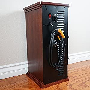 NEW Dark Brown Infrared Quartz Portable Electric Tower Space Heater with Remote, 1500 Watts