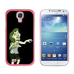 Graphics and More Zombie Girl on Black, Undead Snap-On Hard Protective Case for Samsung Galaxy S4 - Non-Retail Packaging - Pink