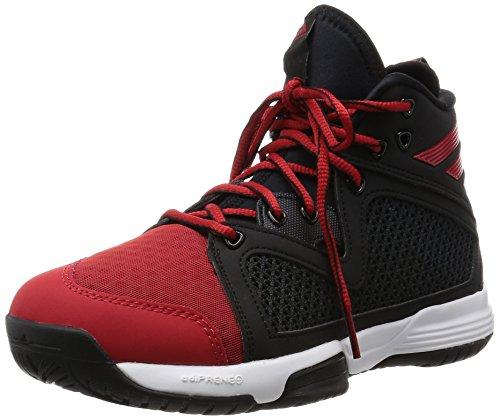 adidas Unisex Baby Adizero PG K Basketballschuhe Schwarz / Rot / Weiß (Negbas / Scarlet / Ftwbla)
