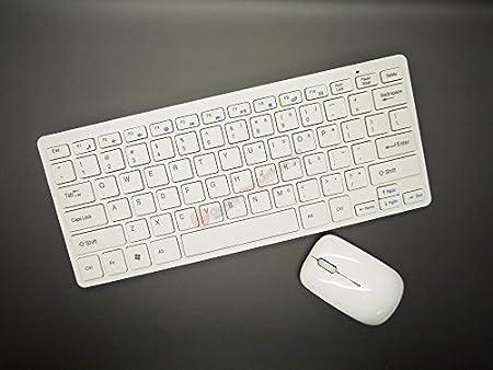 Blanco Mini teclado inalámbrico y ratón para PANASONIC VIERA TX-50AS520 LED Smart TV: Amazon.es: Informática