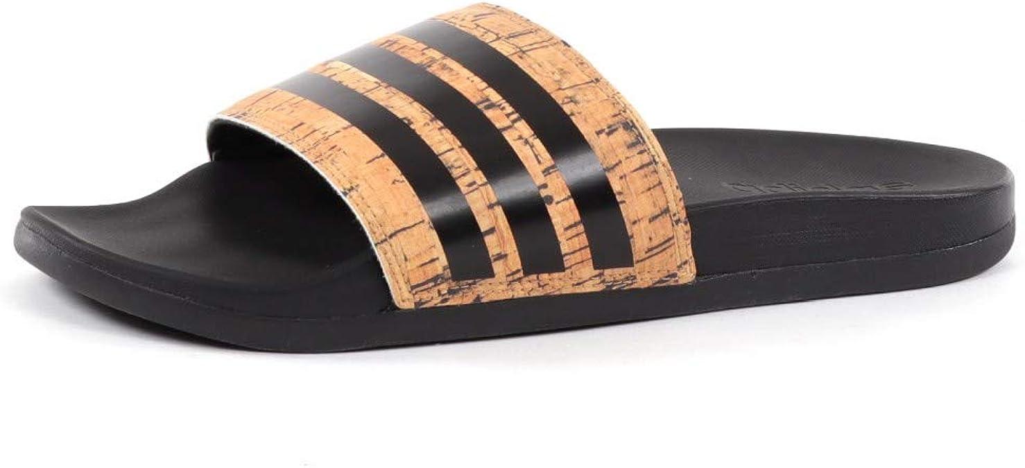 Adidas Adilette Cloudfoam Plus Cork Braun Damen Hausschuhe