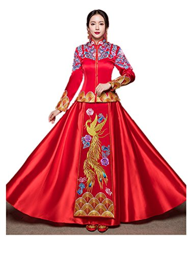 Show Wo Dress Chinese Bridal costume Chinese wedding dress Wedding cheongsam Touchdown wedding dress Toast dress by YY-Bride Wedding Cheongsam