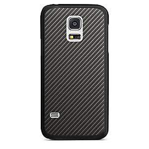 Samsung Galaxy S2Funda Premium Case Protección cover carbon look negro gris metal
