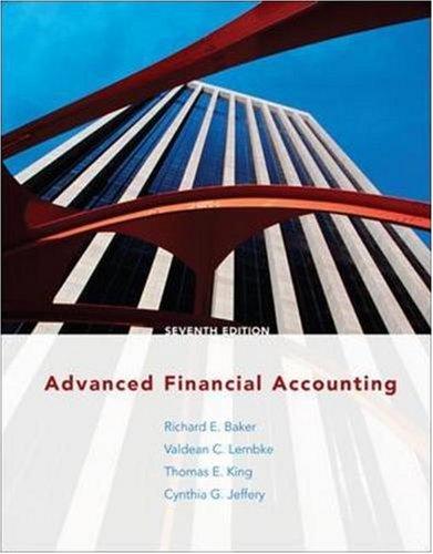 Advanced Financial Accounting -
