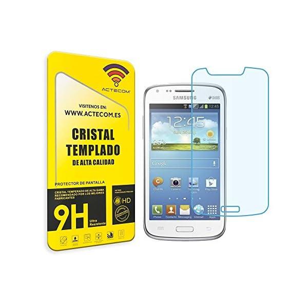 actecom® Protector Pantalla Cristal Templado Compatible con Samsung Galaxy Core DUOS GT-i8262 2