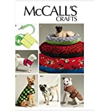 McCall's Patterns M6455 Dog Bed In 3 Sizes, Leash, Case, Harness Vest and Coat, All Sizes