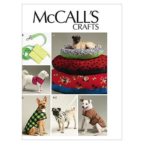 McCall's Pattern Dog Bed in 3 Sizes, Leash, Case, Harness Ve