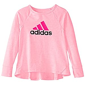 adidas Girls' Long Sleeve Girly Tee Shirt