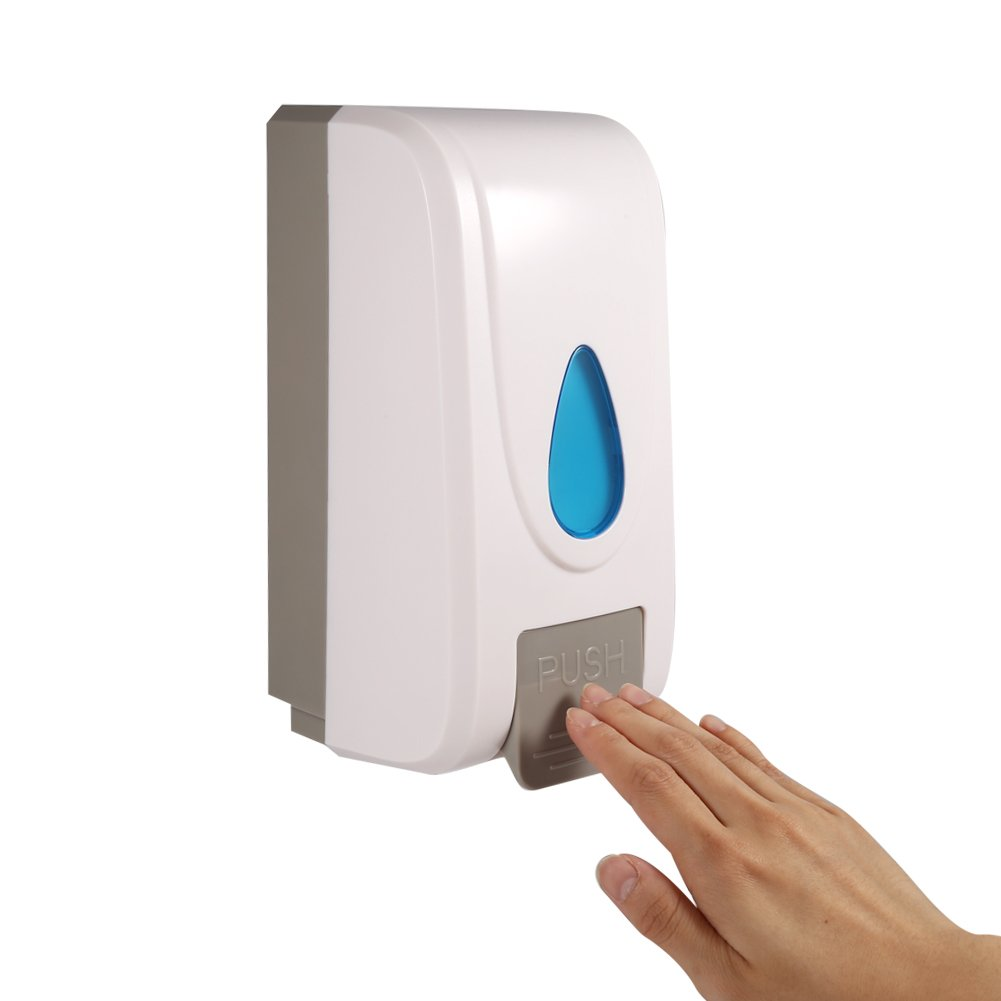 1000ML Soap Lotion Dispenser Wall Mounted Shower Shampoo Liquid Box Kitchen Bathroom Toilet Hand Cleanser Dispenser Yosoo