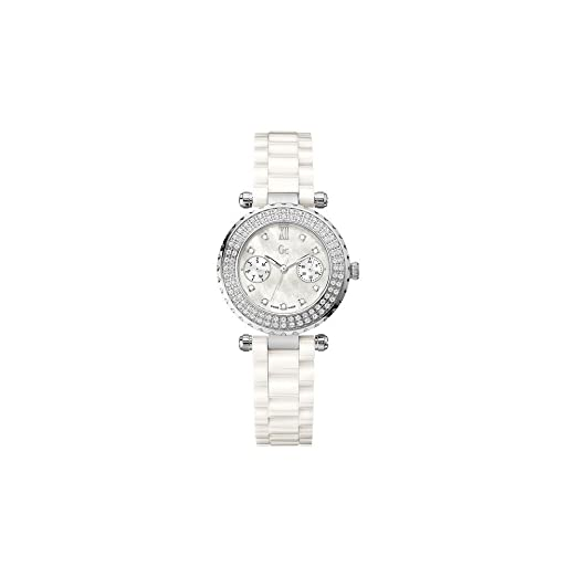 Reloj Guess Collection Gc Diver Chic 97 Diamon A28101l1 Mujer Nácar: Amazon.es: Relojes