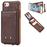DAMONDY iPhone 6s Plus,iPhone 6 Plus, Luxury Wallet Purse Card Holders Design Cover Soft Shockproof Bumper Flip Leather Kickstand Magnetic Clasp With Wrist Strap Case for iPhone 6s/6 Plus-coffee