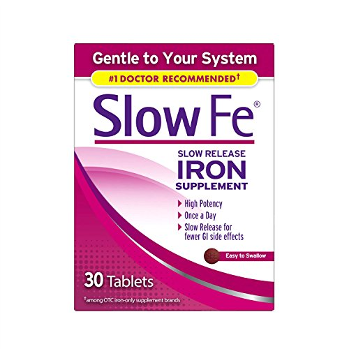 Slow Fe Iron Supplement Tablets for Iron Deficiency, Slow Release, High Potency, 30 count (Best Iron Supplement For Iron Deficiency Anemia)