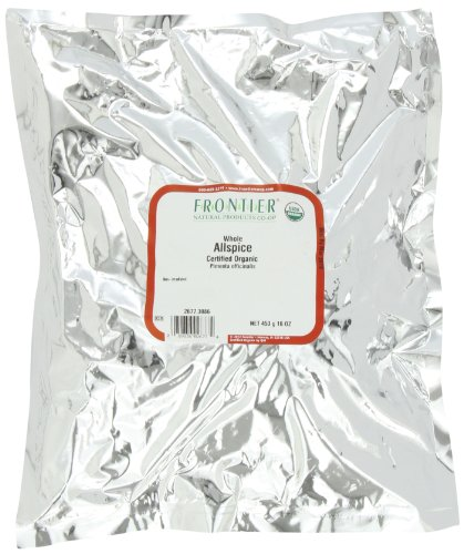 Certified Spice Organic (Frontier Allspice Whole Certified Organic, 16 Ounce Bag)