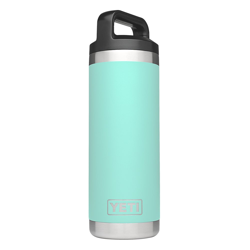 YETI Rambler 18oz Vacuum Insulated Stainless Steel Bottle with Cap, Seafoam DuraCoat by YETI