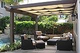 OriginA Patio Shade Fabric for Greenhouse,Pond Cover,Pergola Cover,Patio Side Fence 6x30ft Beige