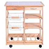 Kitchen Countertop Storage Giantex Rolling Wood Kitchen Trolley Cart Dining Storage Drawers Stand Countertop by Giantex