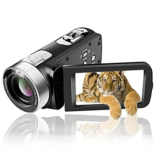 Camcorder Video Camera Full HD 1080p Camcorders 24.0 MP Digital Camera Webcam Pause Function 16X Digital Zoom (C1)
