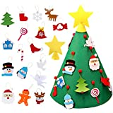 Aytai 3D DIY Felt Christmas Tree with Hanging Ornaments, Xmas Gifts for Kids Christmas Decorations
