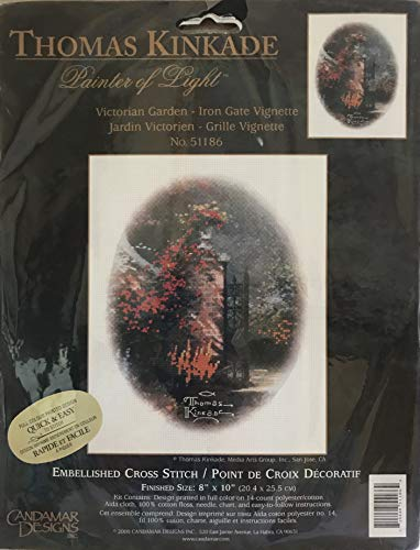 THOMAS KINKADE Craft EMBELLISHED CROSS STITCH Kit