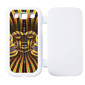 Psychedelic Art Custom Flip Cover Case TPU For Samsung Galaxy S3 i9300