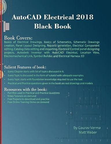 autocad electrical 2018 black book gaurav verma matt weber rh amazon com Electrical Symbols Electrical Symbols