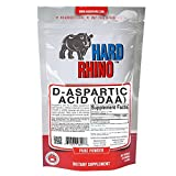 Pure D-Aspartic Acid (DAA) Bulk Powder. Pharma Grade. (125G) by Hard Rhino