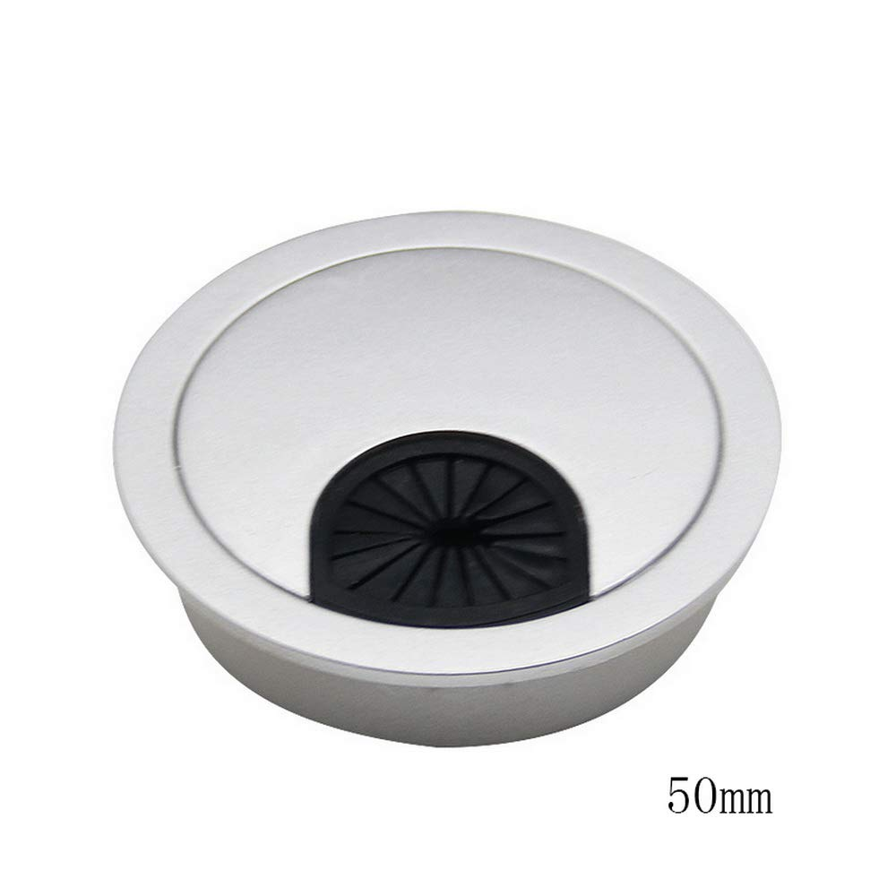 Godagoda Round Computer Desk Grommet Cable Hole Covers for Management of Office & Computer Desk, Hole Dia 50mm