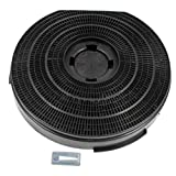 Indesit H661GY Cooker Hood Charcoal Carbon Round Vent Filter (255 mm x 55 mm)