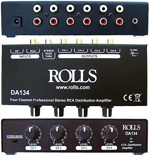 Multichannel Amplifiers Electronics Rolls DA134 4-Channel ...