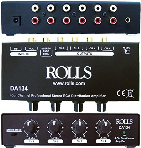 - Rolls DA134 4-Channel Distribution Amplifier