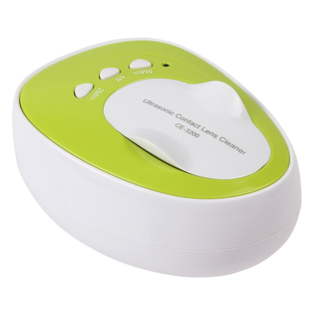 Kowellsonic CE-3200 Mini Ultrasonic Contact Lens Cleaner Kit Daily Care Fast Cleaning New---Green Jiekang No Model