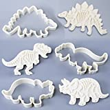 SUPOW Dinosaur Fossil Cookie Cutter/Stampers, IY Baking Mould for Fondant Cake / Biscuit / Play Doh, Set of 3