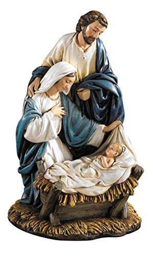 CB Gift Michael Adams Come Adore Him Nativity Musical Figurine, 7.5
