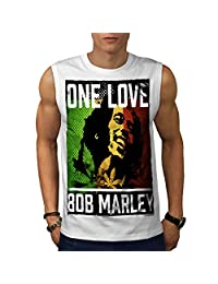 One Love Marley Pot Rasta Men Sleeveless T-shirt | Wellcoda